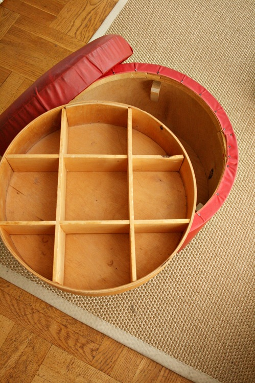 Marvelous Round Ottoman Benita Larsson Machost Co Dining Chair Design Ideas Machostcouk